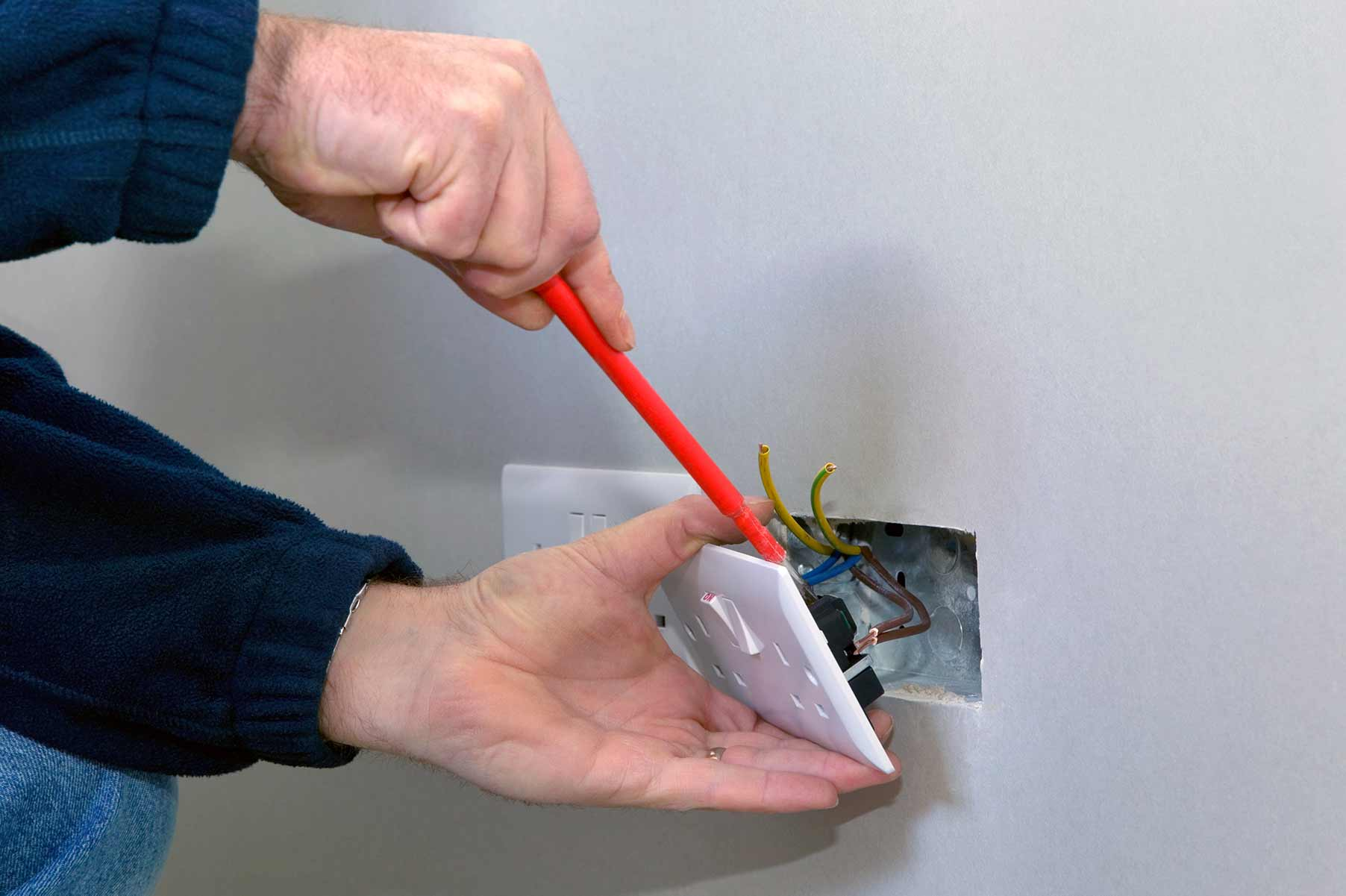 Our electricians can install plug sockets for domestic and commercial proeprties in Merton and the local area.